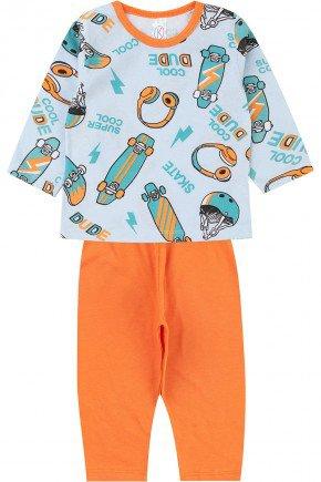 pijama menino infantil piradinhos inverno azul