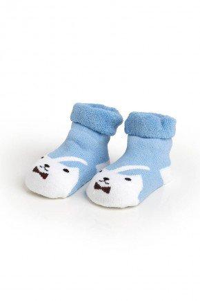 meia azul gato conjunto piradinhos