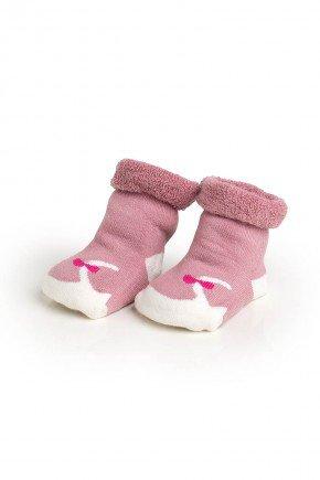 meias rosa envelhecido conjunto piradinhos
