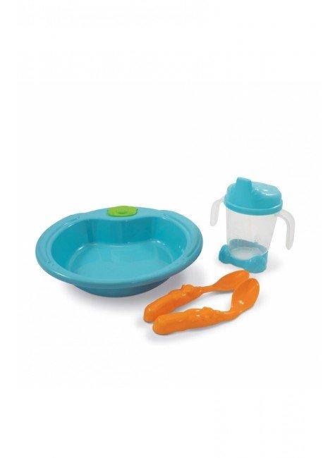 prato infantil bebe verde piradinhos