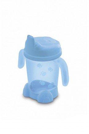 copo bico azul piradinhos bebe infantil menino