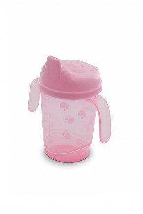 copo rosa piradinhos infantil bebe menina