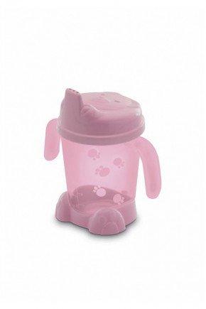 copo rosa bico piradinhos bebe infantil