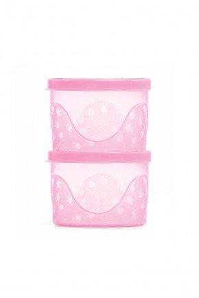 kit potes rosa piradinhos