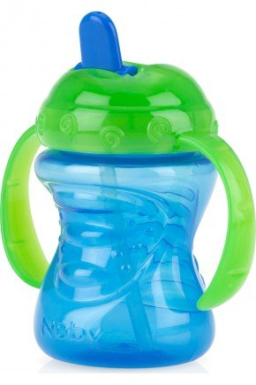 copo azul retratil bico piradinhos menino bebe infantil