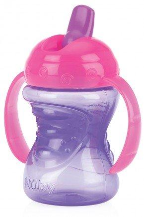 copo retratil canudo piradinhos menina roxo bebe infantil