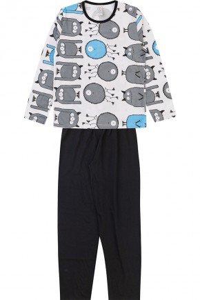 pijama branco juvenil piradinhos menino