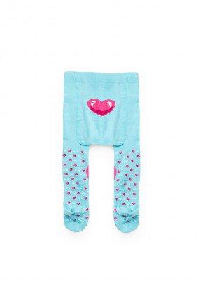 meia calca azul coracao piradinhos menina bebe