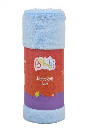 02002102010002  Manta Soft Rolinho Azul
