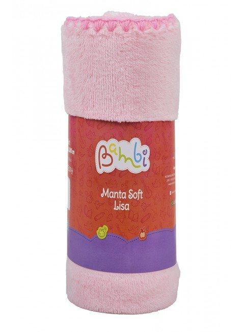 02002102010004  Manta Soft Rolinho Rosa