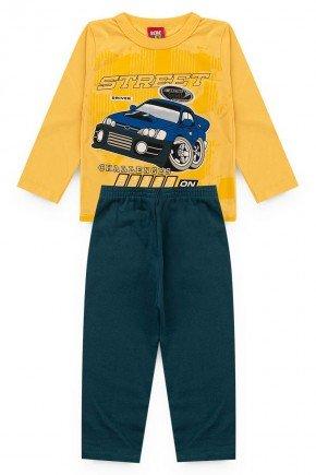 conjunto amarelo carro piradinhos