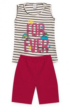 conjunto preto pink crulistrado piradinhos verao menina infantil regata