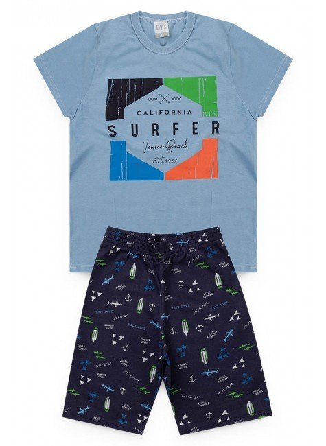 conjunto marinho surfer piradinhos menino infantil masculino verao azul