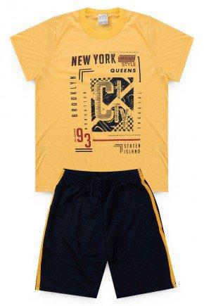 conjunto verao amarelo piradinhos shorts camiseta