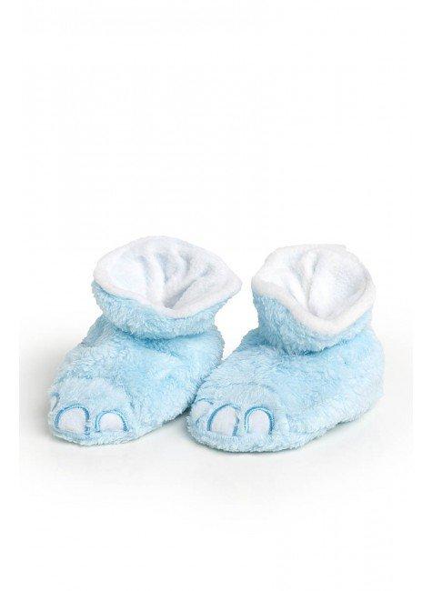 pantufa azul piradinhos pata menino infantil bebe