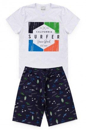 conjunto branco menino piradinhos surfer verao