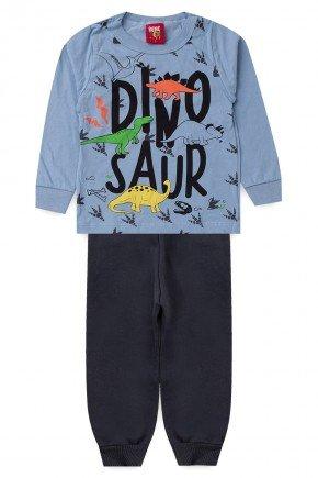 conjunto azul piradinhos bebe infantil inverno menino dino