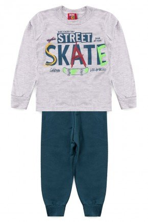 conjunto skate mescla verde piradinhos benetexkids inverno infantil