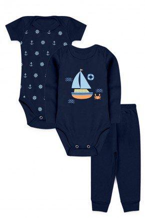 kit barco bebe kappes inverno marinho piradinhos