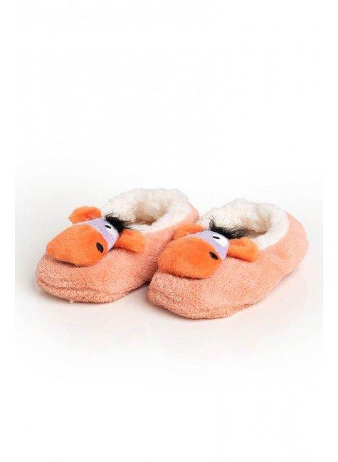 pantufa laranja burro piradinhos infantil bebe inverno