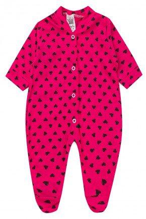 macacao pink coracao bebe infantil piradinhos sophi