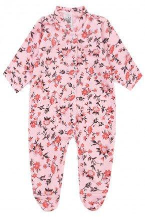 macacao rosa flores piradinhos infantil bebe sophi