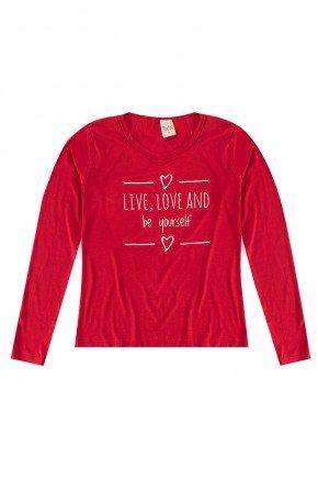 piradinhos blusa mangalonga infantil vermelho trin inverno