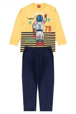 conjunto meiaestacao astronauta amarelo bentex infantil