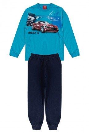 conjunto azul carro piradinhos infantil benetex mangalonga meiaestacao