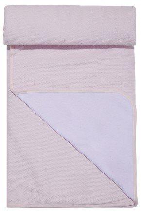 manta rosa piradinhos bebe menina