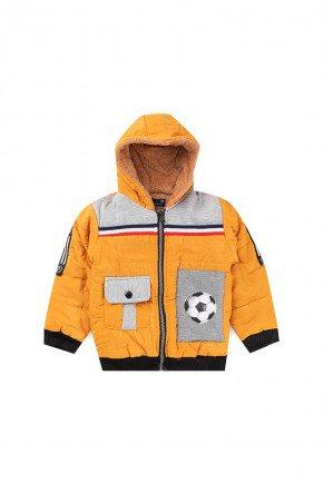jaqueta amarelo infantil inverno piradinhos crianca