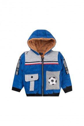 jaqueta inverno bola azul infantil piradinhos