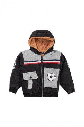 jaqueta inverno preta infantil piradinhos bola