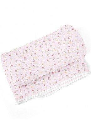 cobertorn floral rosa piradinhos menina bebe infantil