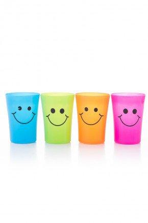 copo sortido colorido plastico piradinhos