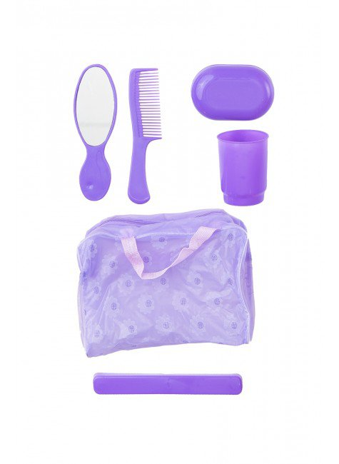 kit higiene infantil roxo piradinhos crianca menina