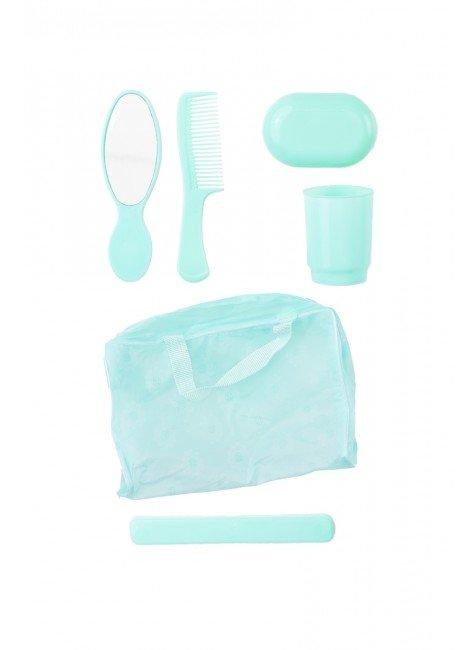 kit higiene infantil verde piradinhos crianca menina