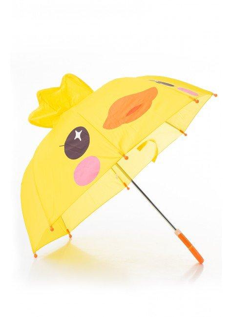 guarda chuva infantil amarelo piradinhos pato