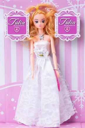 boneca julia elegante branco brinquedo menina piradinhos futuro brasil infantil