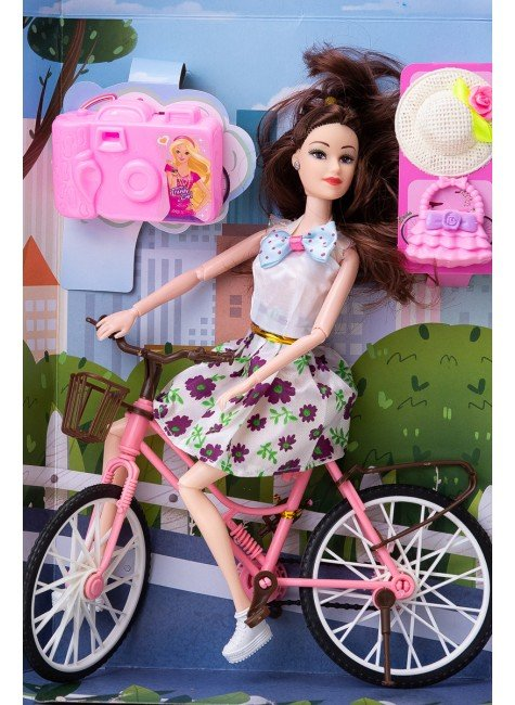 boneca julia ciclista flor brinquedo menina piradinhos futuro brasil infantil
