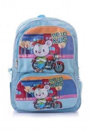 mochila infantil safari azul piradinhos ratinho