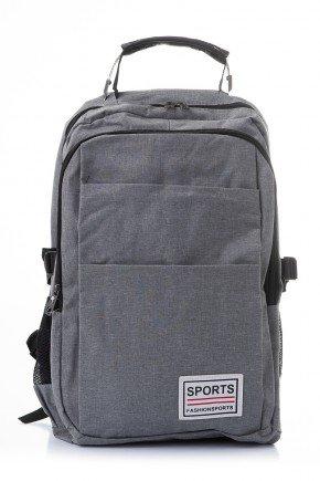 mochila sports piradinhos escolar cinza