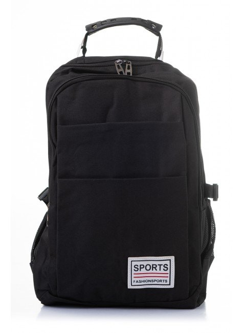 mochila preto piradinhos sports