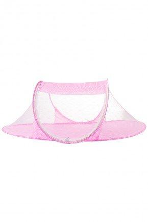 mosquiteira portatil bebe piradinhos rosa