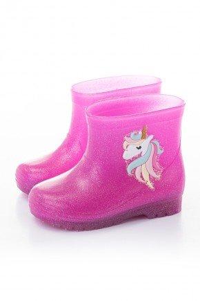 galocha unicornio rosa piradinhos menina