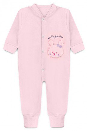 macacao bordado rosa claro piradinhos bebe
