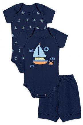 kit body menino barco bebe marinho