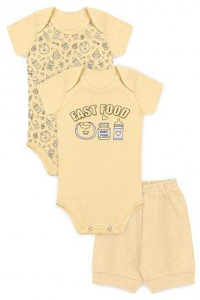 kit body piradinhos menino amarelo bebe