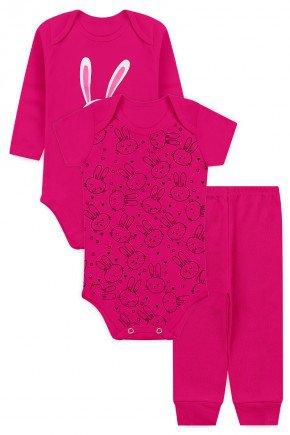 kit body pink coleho piradinhos bebe menina