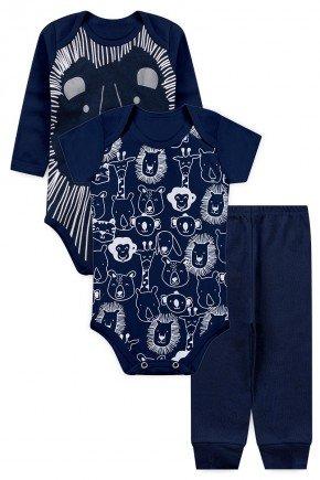 kit body bebe leao marinho piradinhos menino